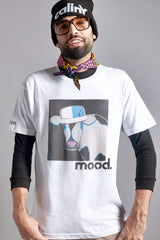 calinY mood tee on model