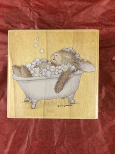 House Mouse Rubber Stamp - Relaxing Bubbles