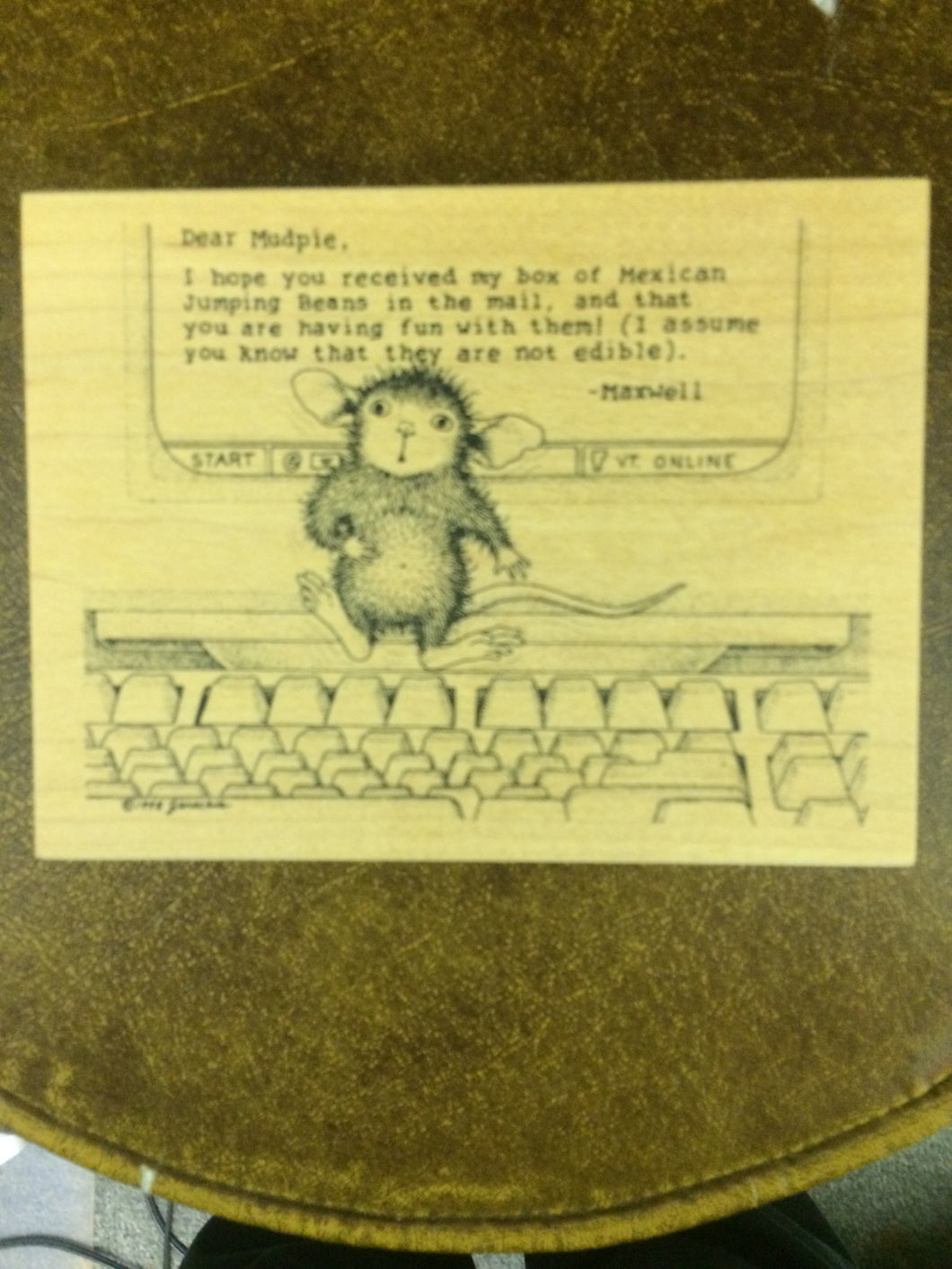 House Mouse Rubber Stamp - Mudpie.com