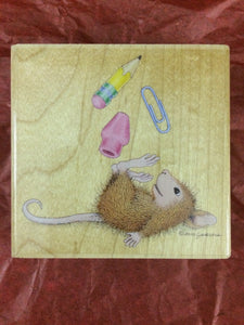House Mouse Rubber Stamp - Class Clown