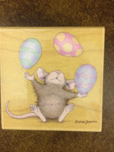 House Mouse Rubber Stamp - Don't crack under pressure