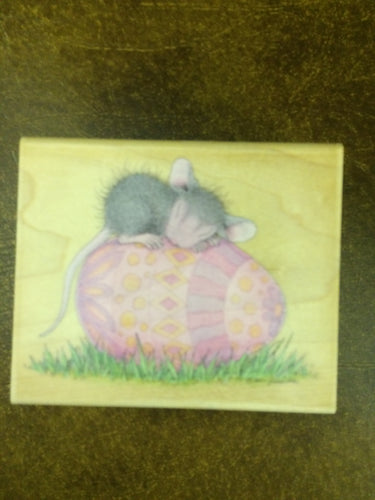 House Mouse Rubber Stamp - Egghausted