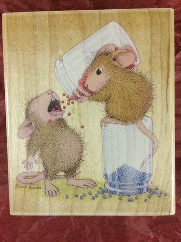 House Mouse Rubber Stamp - Balanced Diet