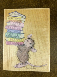 House Mouse Rubber Stamp - Smarty Pants
