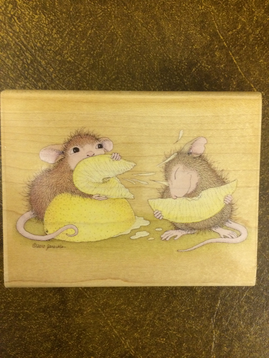 House Mouse Rubber Stamp - Fresh Squeezed Jokester