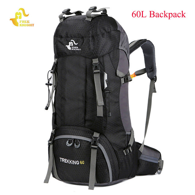 cbefbdefabf1 ... Free Knight 60L Waterproof Climbing Hiking Backpack Rain Cover Bag 50L  Camping Mountaineering Backpack Sport Outdoor ...