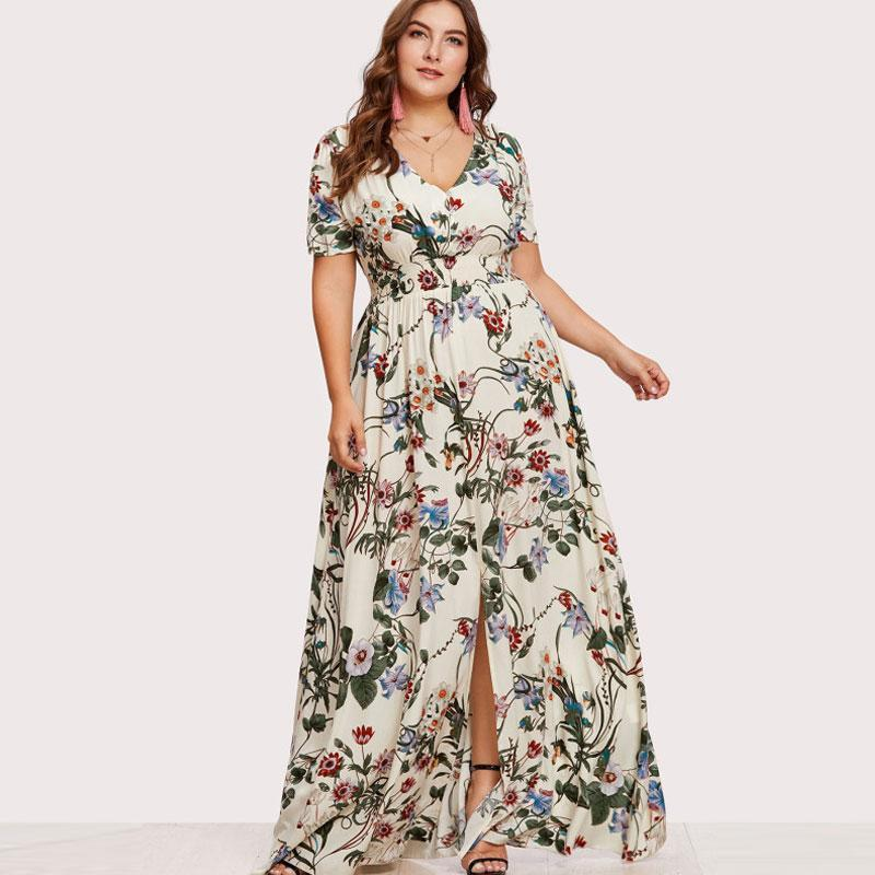 PLUS SIZE Lohana Maxi Dress | Boho Plus Size Dresses Online | KALANI