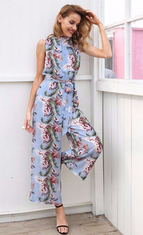Kalani Boutique Jumpsuit Blue / S LUNA Jumpsuit - Blue