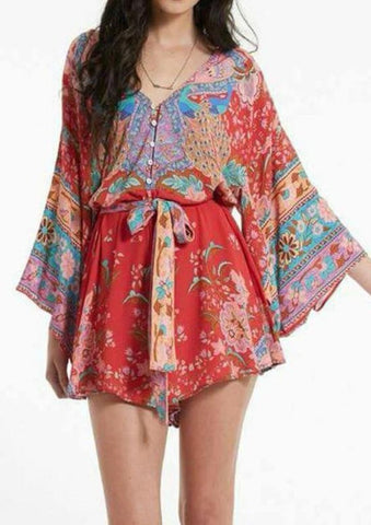 Kalani Boutique Playsuit Red / S PRIMROSE Playsuit