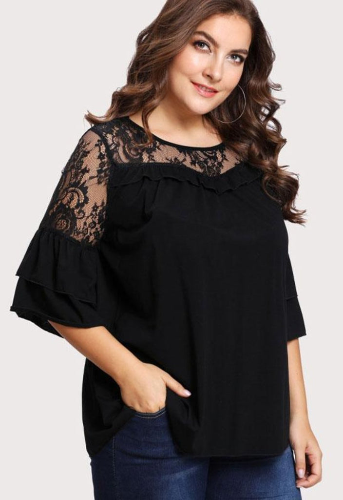 270341711fb Kalani Boutique Tops Black   L PLUS SIZE Pippa Top