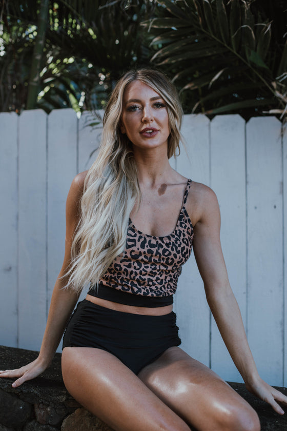 The Lounger Top | Leopard Print