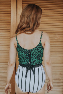 The Lounger Top | Green Leopard Print