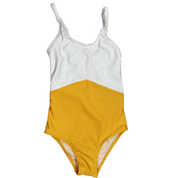 The Mini Sailor | White & Yellow Colorblock