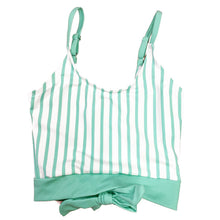 The Mini Lounger Top | Mint & White Stripe