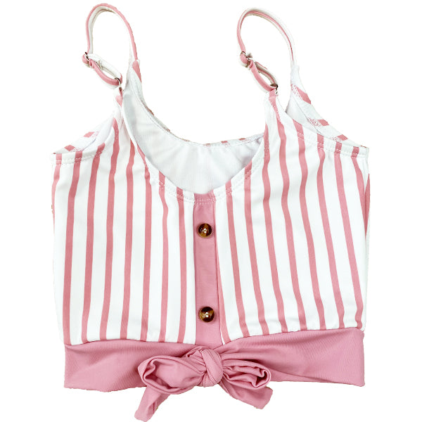 The Mini Lounger Top | Pink & White Stripe