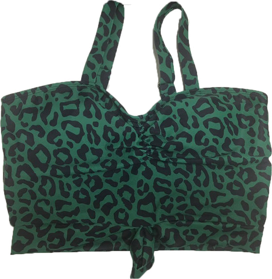 Stay-Cation Top | Green Leopard Print
