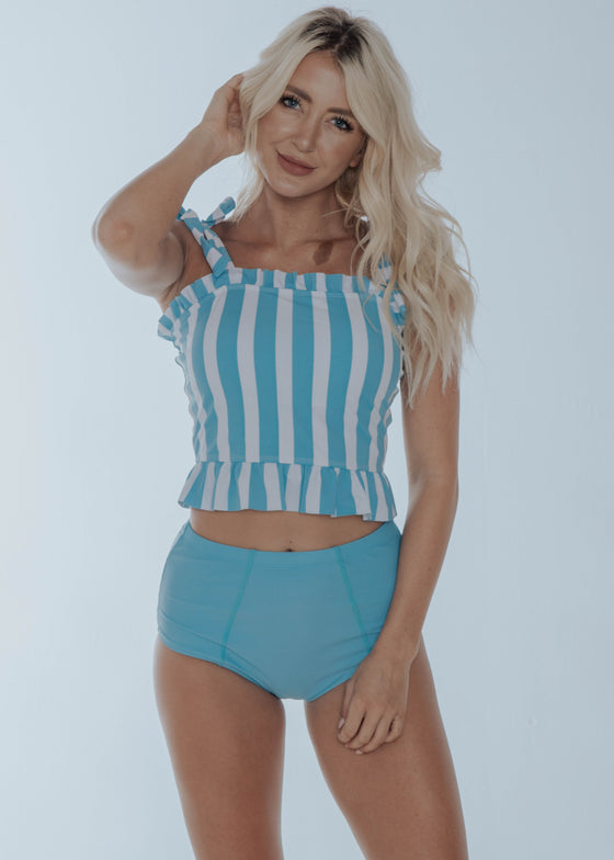 Candy Stripe Top | Blue & White Stripes