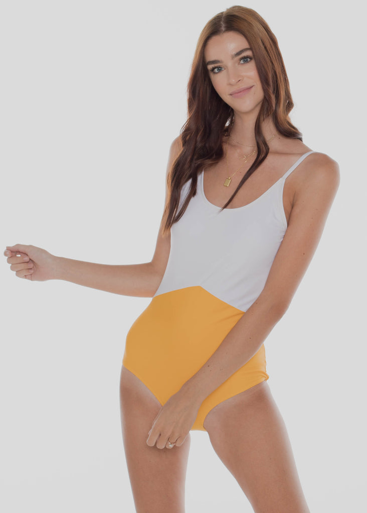 The Sailor | White & Yellow Colorblock