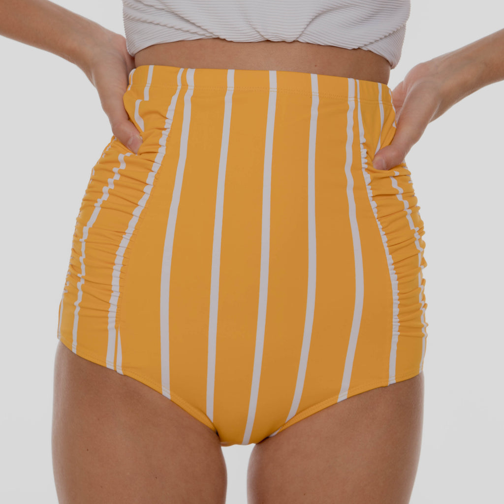 Sun Baked Bottoms | Yellow & White Stripes
