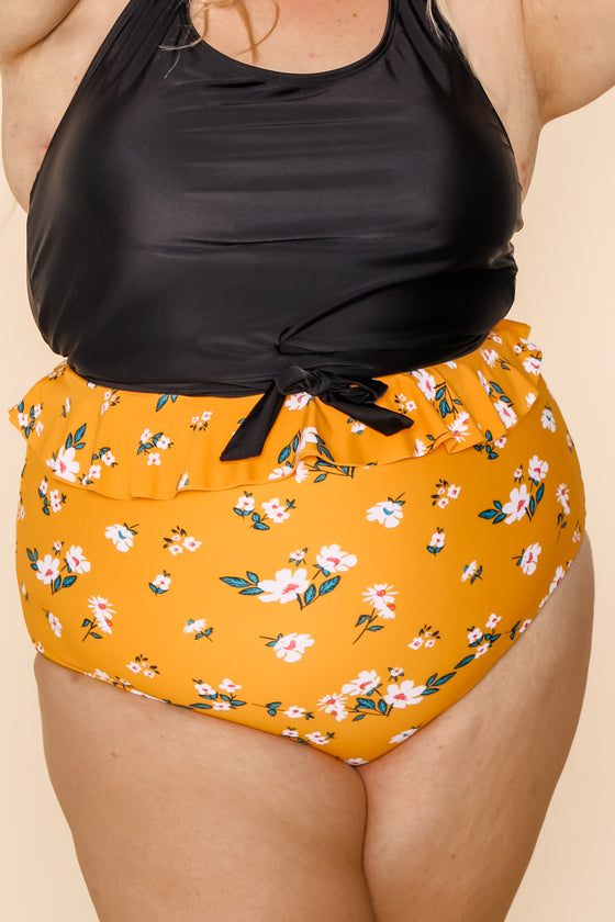 Cabana Reversible Bottoms | Mango/Floral