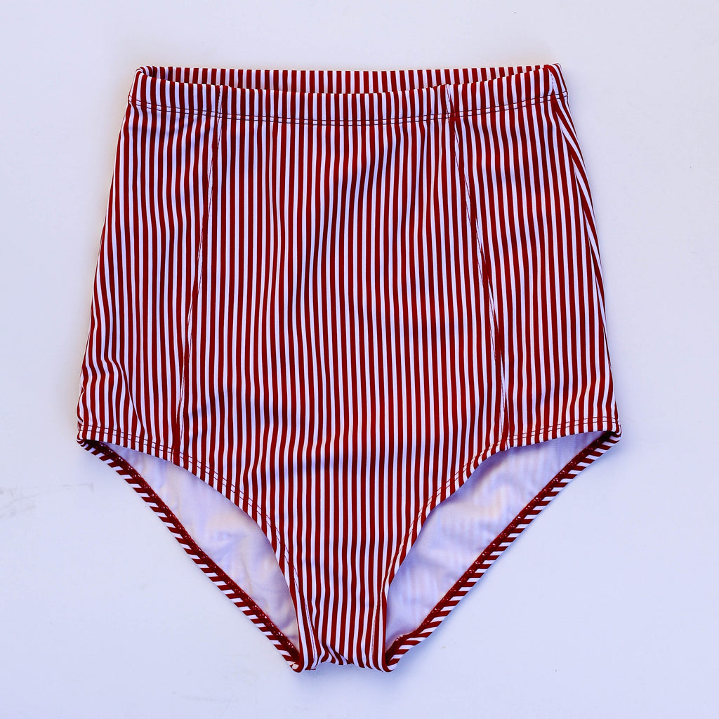 At The Beach Bottoms | Red & White Stripes |
