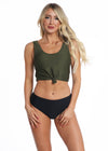 The Traveler Top | Olive Rib Knit