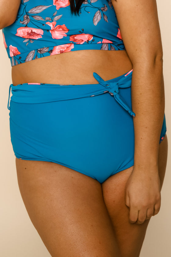 Nori Reversible Bottoms | Blue/Blue Floral