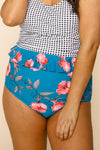Cabana Reversible Bottoms | Blue/Blue Floral