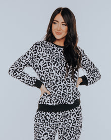 Black & White Leopard Print Sweater