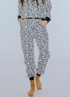 Black & White Animal Print Joggers