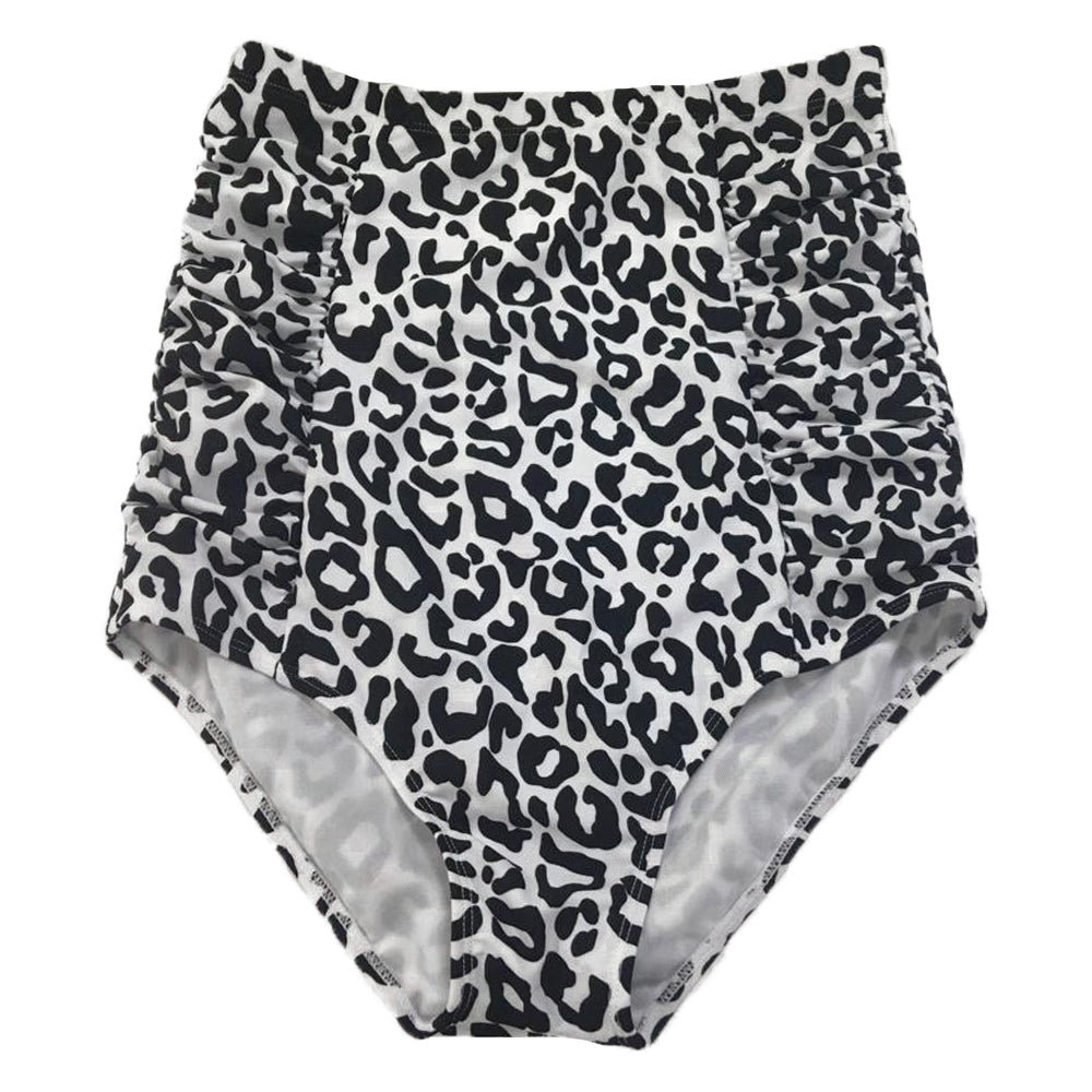 Sun Baked Bottoms | White Leopard Print