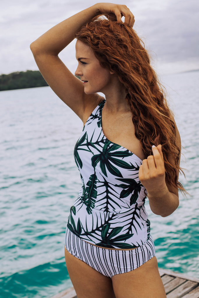 Tropical Paradise Top | Palm Print