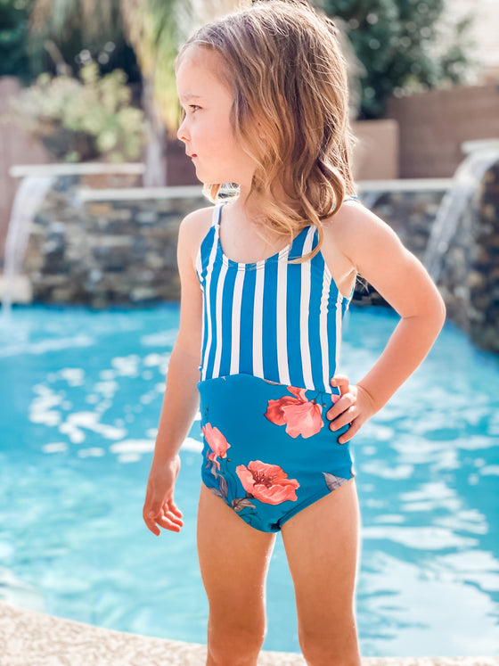 Mini Sailor | Blue Stripe/Blue Floral