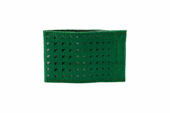 MRKT WILLARD SUPR FELT Card Holder- Laser Cut Design