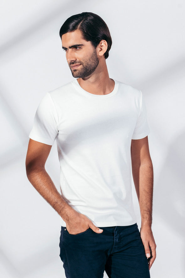 CACIANO RIBBED TANGÜIS ORGANIC COTTON Short Sleeve T-Shirt