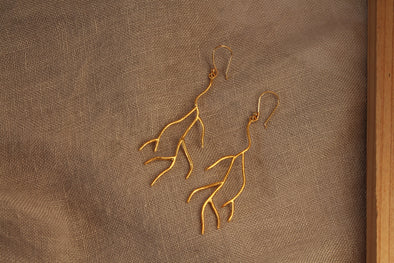 LA SEBASTIANA CORALES RECYCLED SILVER 925 BATHED IN GOLD 18K Earrings
