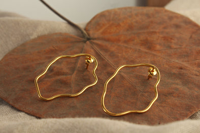 LA SEBASTIANA DALI DORADOS RECYCLED SILVER 925 BATHED IN GOLD 18K EARRINGS