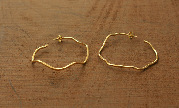 LA SEBASTIANA HARU DORADOS RECYCLED SILVER 925 BATHED IN GOLD 18K EARRINGS