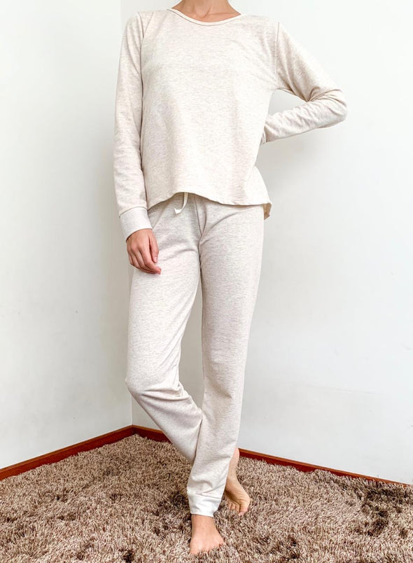 NIDRA QUINOA ORGANIC COTTON PJ TWO PIECE