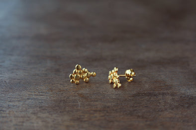 LA SEBASTIANA RACIMO RECYCLED SILVER 925 BATHED IN GOLD 18K Earrings