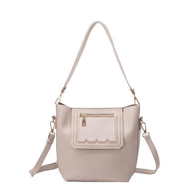 Melie Bianco ADELISE Studded Shoulder Bag