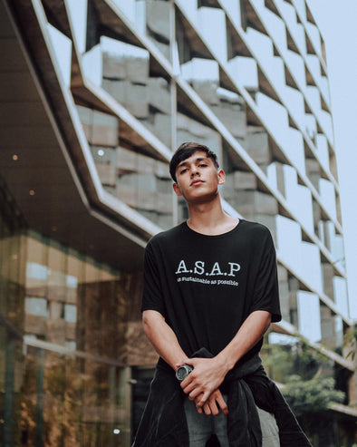 "WILD SOUL PROJECT ""A.S.A.P."" (AS SUSTAINABLE AS POSSIBLE) Bamboo Short Sleeve Round Neck T-Shirt"