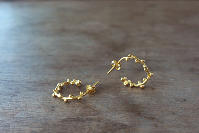 LA SEBASTIANA WABI RECYCLED SILVER 925 BATHED IN GOLD 18K EARRINGS
