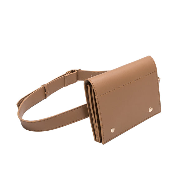 Melie Bianco GABBY Tan Belt Bag