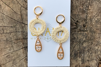 QKAMA MINA CHAMBIRA NATURAL FIBER Earrings