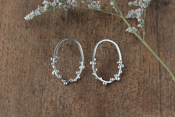 LA SEBASTIANA BABURU RECYCLED SILVER 925 WITH GLOSSY FINISH EARRINGS