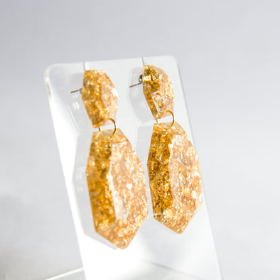 CROMATIC GOLD ECO RESIN Earrings