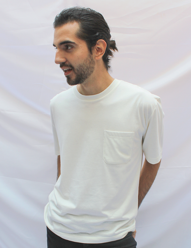 CIRCULAR POCKET RECOVERED COTTON  T-Shirt