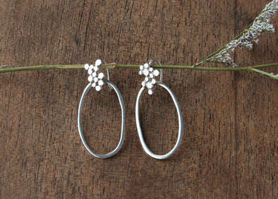 LA SEBASTIANA RACIMO COLGANTE RECYCLED SILVER 925 GLOSSY FINISH EARRINGS