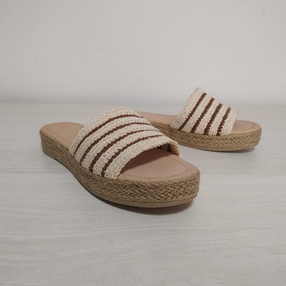 METAMORFOSIS FLORA NATIVA NATIVO ORGANIC COTTON STRIPED Sandals - 2.5cm Heel